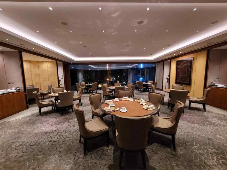 Hua Ting restaurant dining area