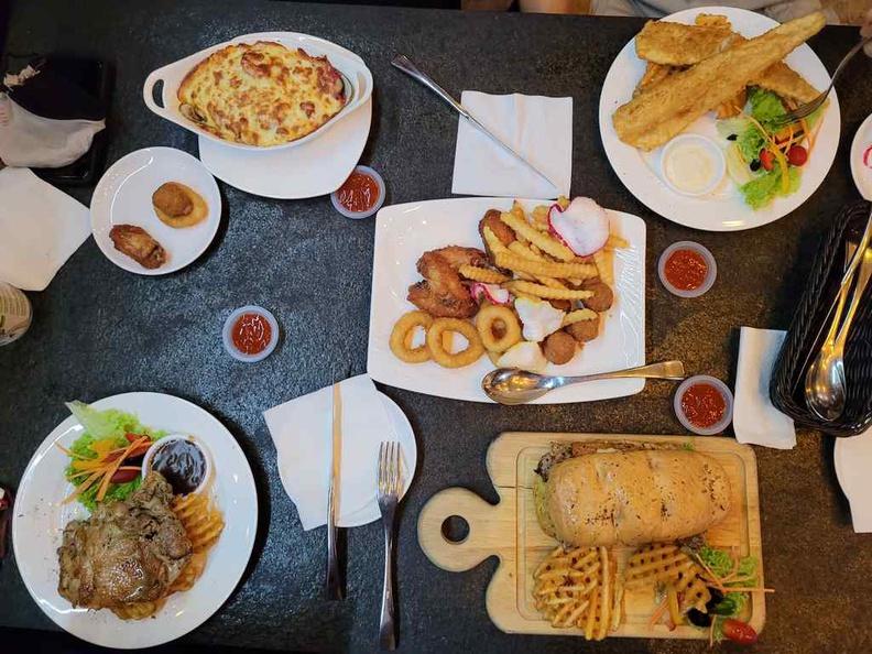 The spread here at TG Bistro