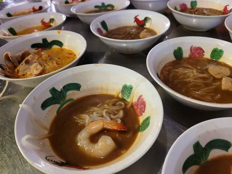 A visit to BKK Boat noodles is often without bowls and bowls of the trademarked tiny 80 cent boat noodles