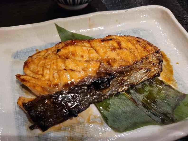 Nanbantei yakitori Salmon set ($18.80)
