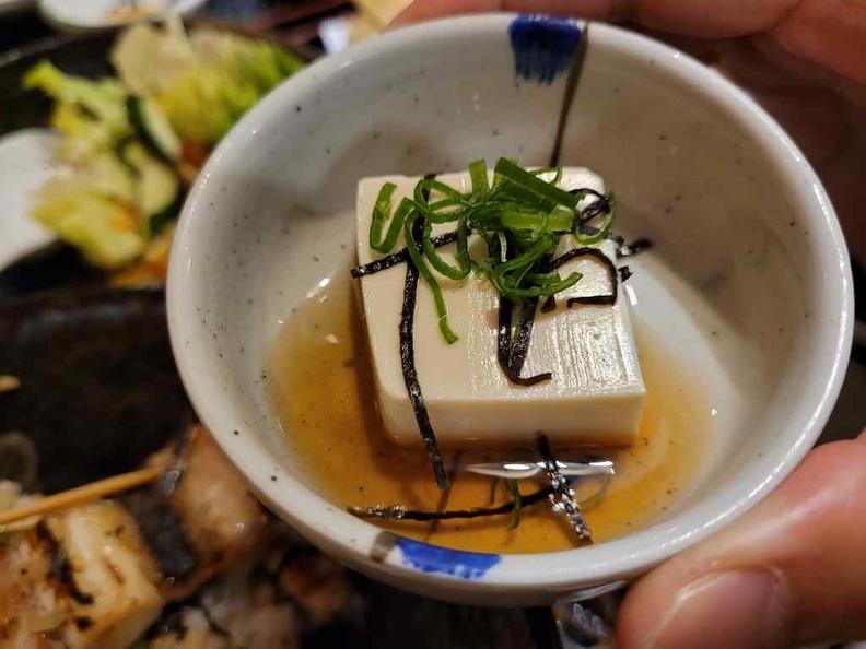 Nanbantei yakitori Soft beancurd