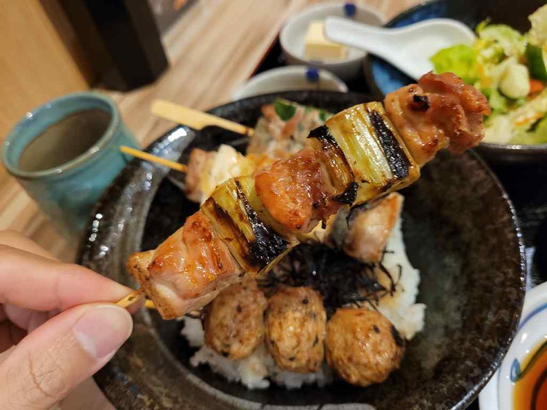 Nanbantei yakitori don ($27) which goes as a set with several nice condiments