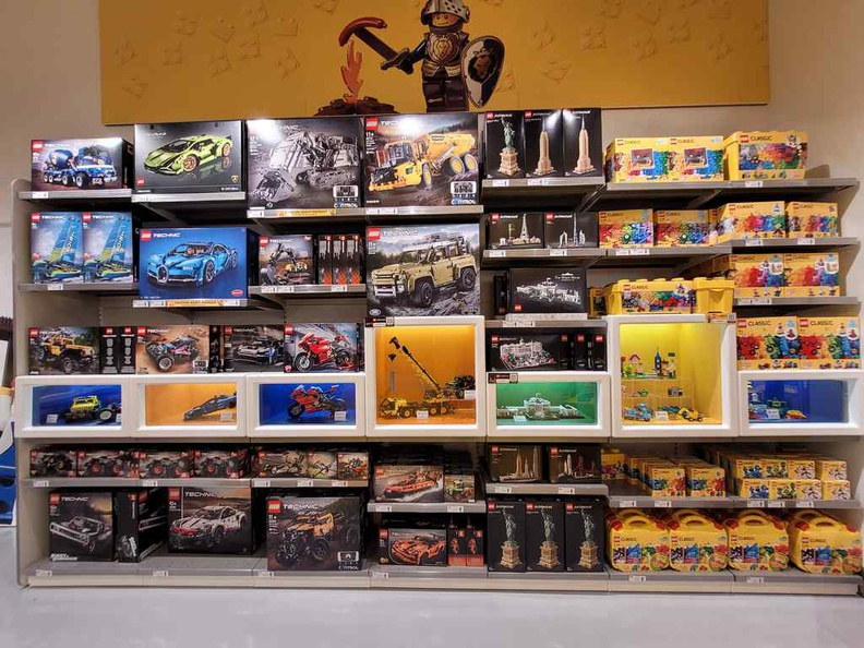 Wall of Lego Technic sets