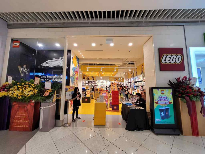 Store front of the new Lego Store at Suntec city