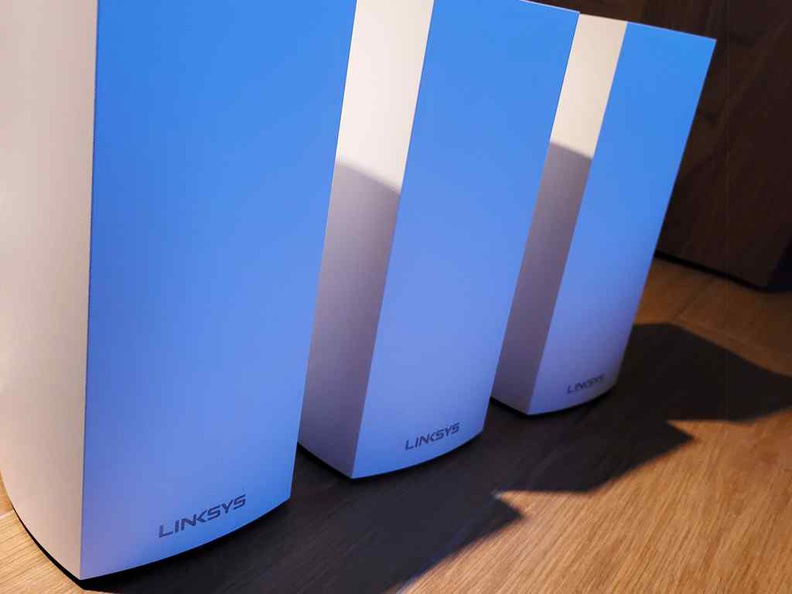 A trio of Linksys MX4200 routers, perfect to extend Wi-Fi6 AX to every corner of your home