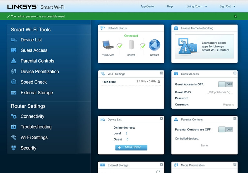 The Linksys MX4200 webgui is an alternate method to manage your device, to those who are more familiar with it. The webgui is also where more advanced features like NAT and Port forwarding can be adjusted too