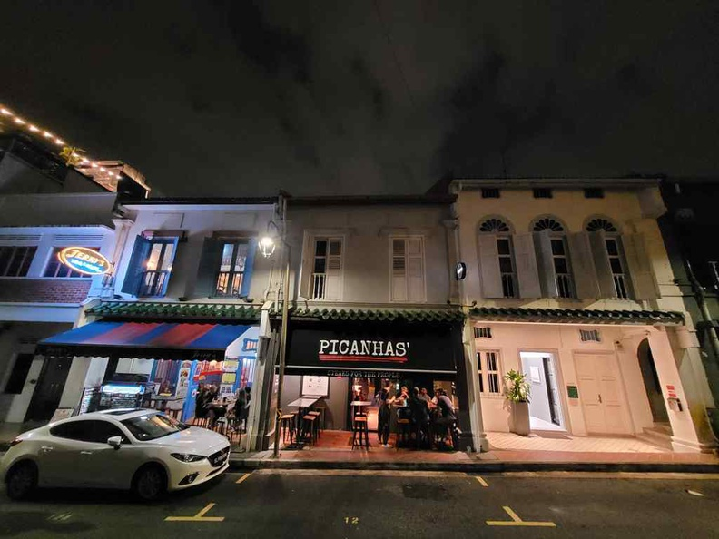 Picanhas Steakhouse located at a shophouse along Club Street. It is quite a buzzing night spot