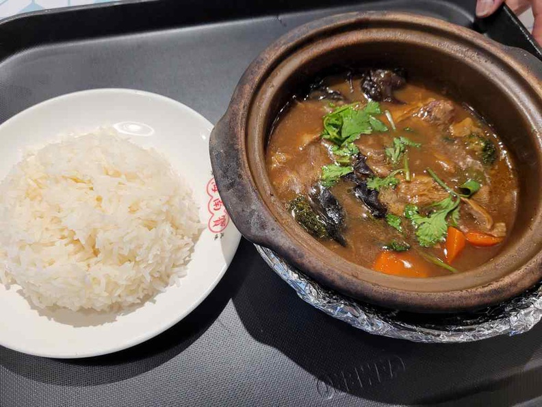 Ah Kor Hainanese Lamb stew with rice ($11.80), served with rice