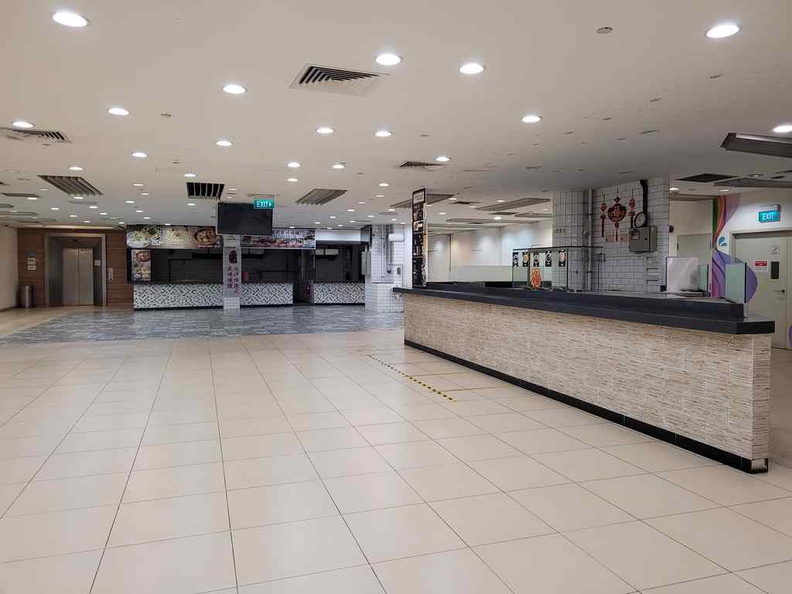 There is an empty food court on the upper floor closed for good