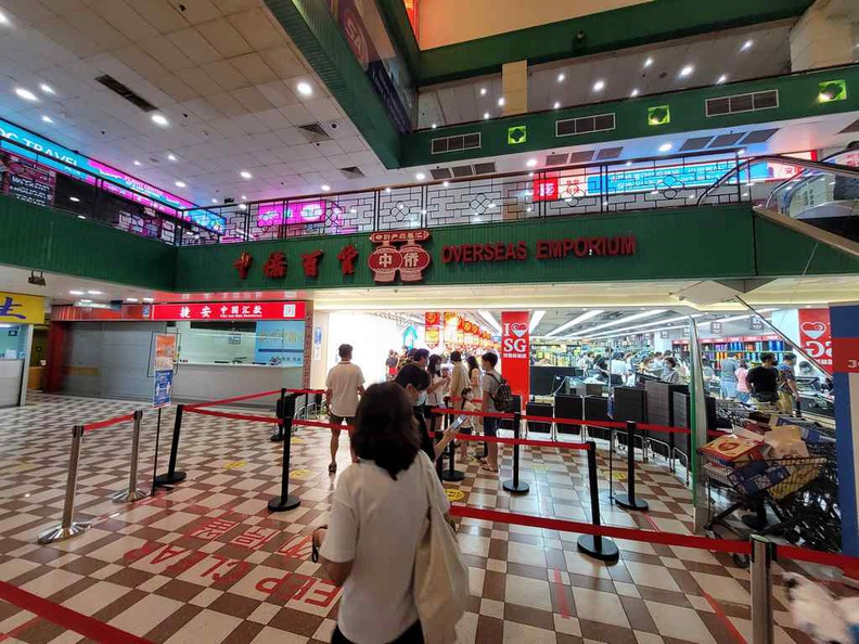 The entrance of Scarlett Chinese Supermarket here at People's park complex