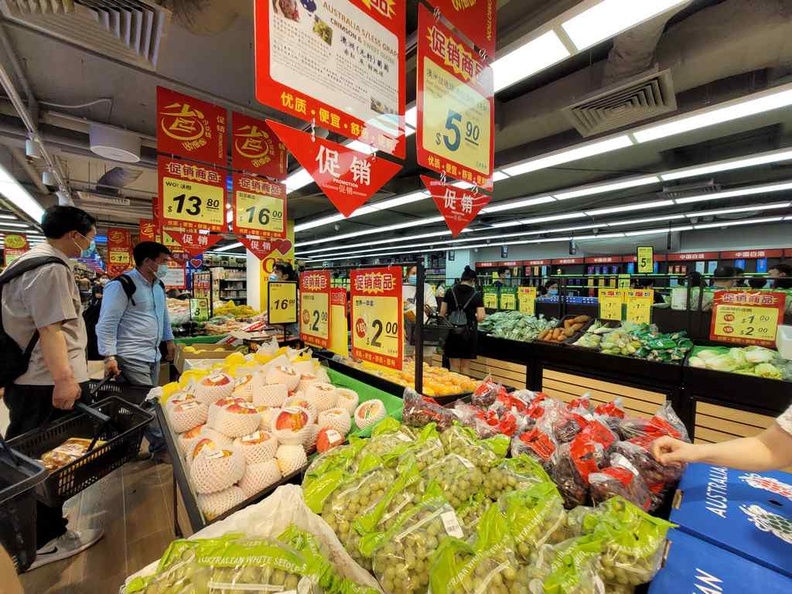 Scarlett Chinese Supermarket fresh vegetable produce and fruits offered at the Supermarket.