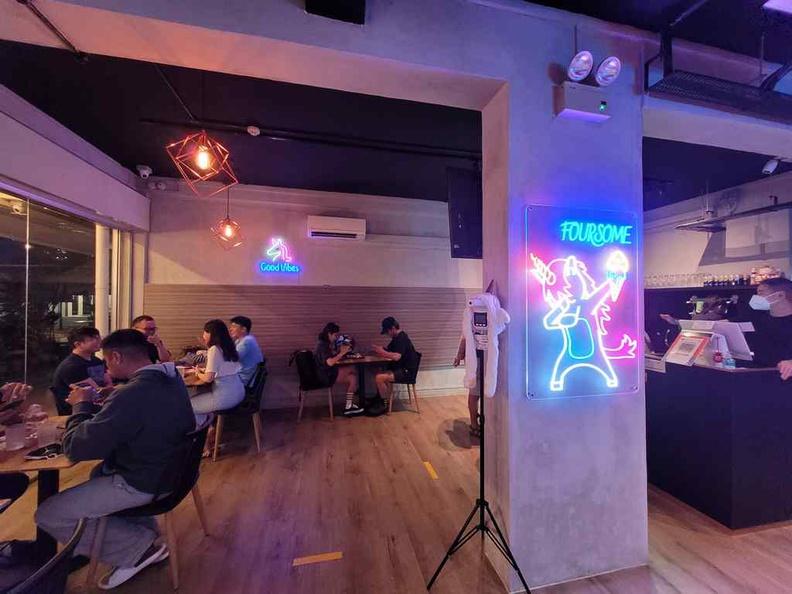 Interior dining area, spot the unicorn