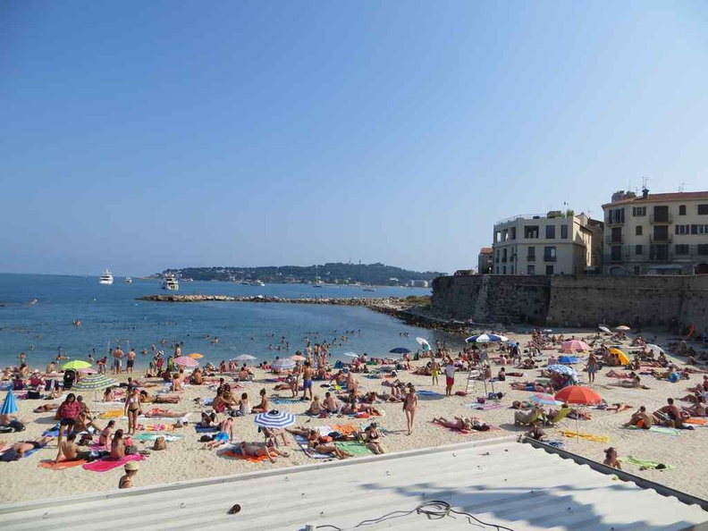 Antibes Waterfront fort and beach side