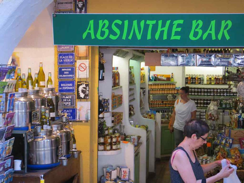 Absinthe bar serving the potent alcoholic drink