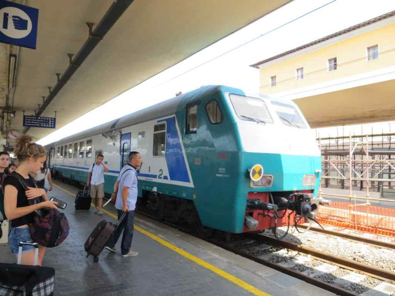 Rail is a great way to travel to and from this small Italian city