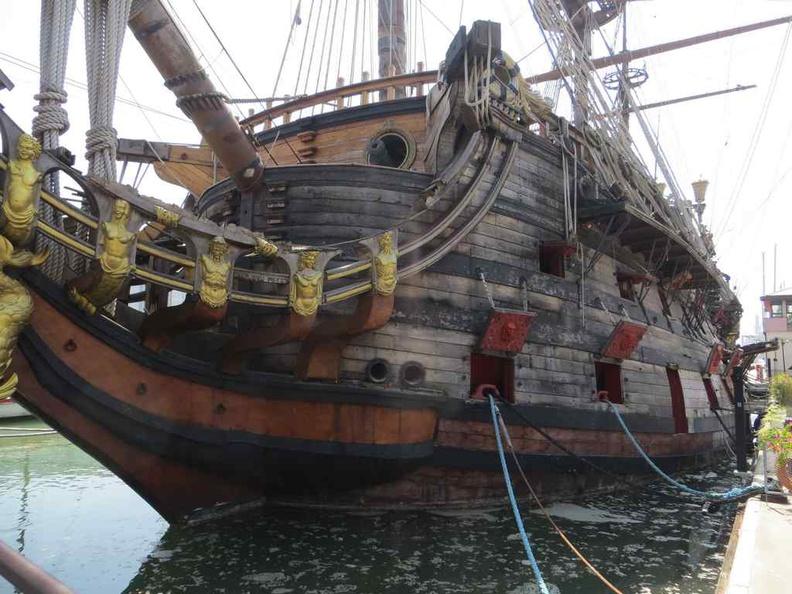 Vascello Neptune Pirate ship, a replica of the 17th-century Spanish galleon ship.