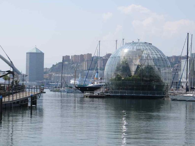 Biosfera Dome by the lagoon sea harbour area