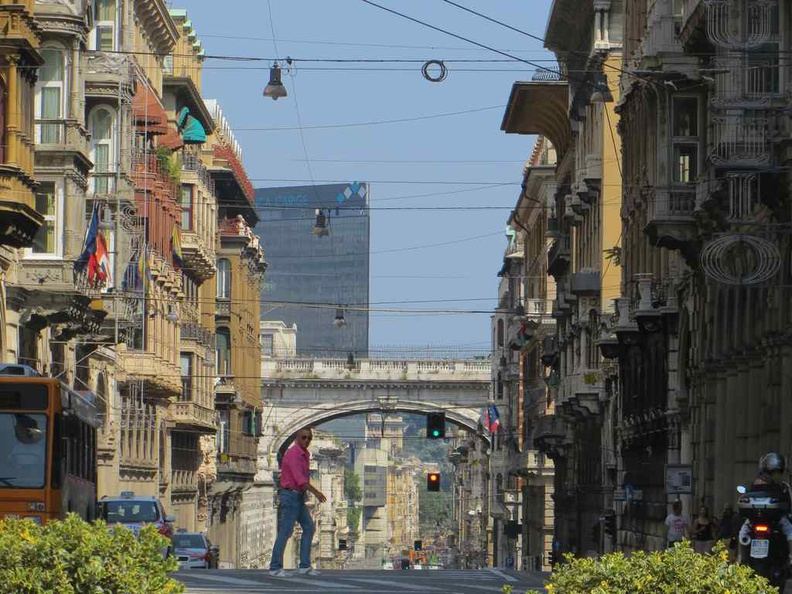 Streets of Genoa Italy, a mix of old and modern in one city