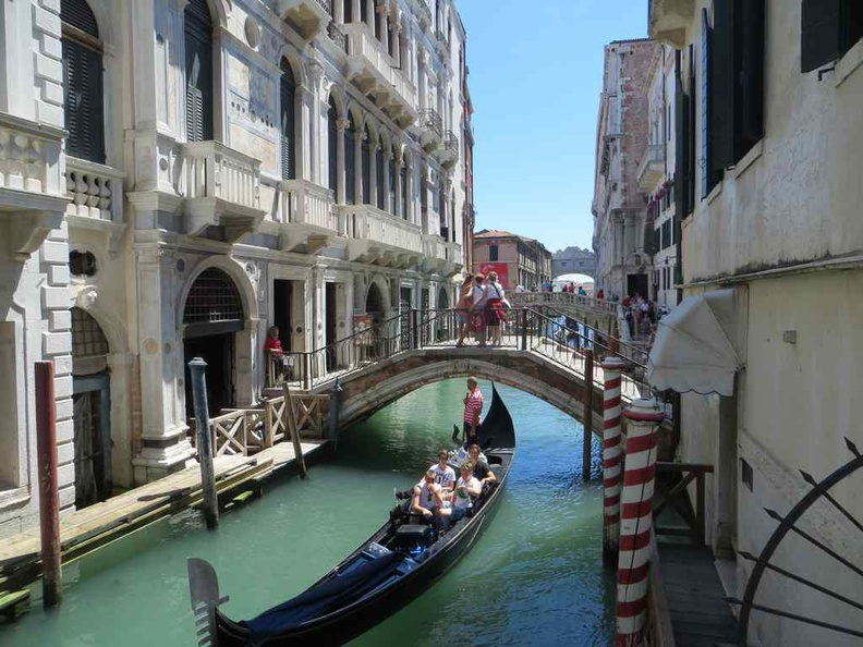 Venice various bridge ways and the gondola boats which is a mainstay on the interior canals