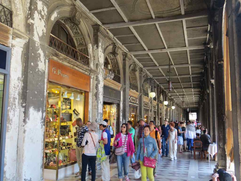 Venice Italy Shopping street by the main Piazza San Marco square