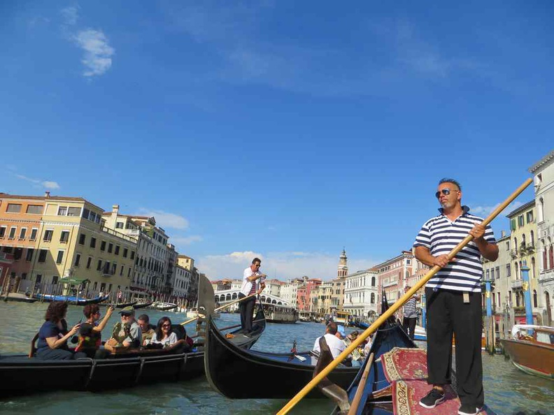 Out on the open water on the Venice grand canal