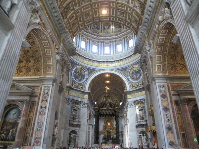 Vatican city St. Peter's Basilica with the Bernini's baldacchino at the center