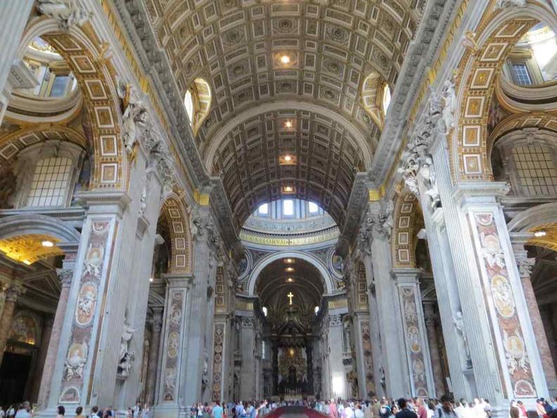 Vatican city St. Peter's Basilica interior