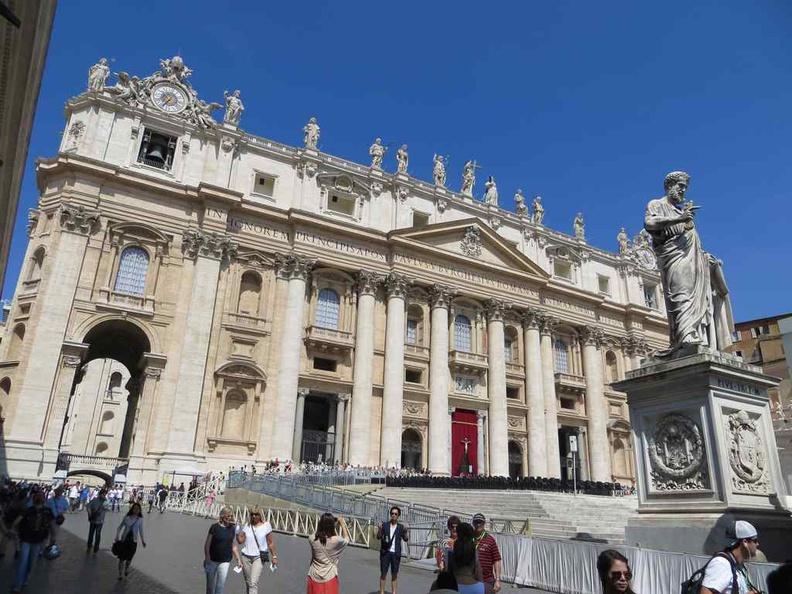 Vatican city St. Peter's Basilica exterior