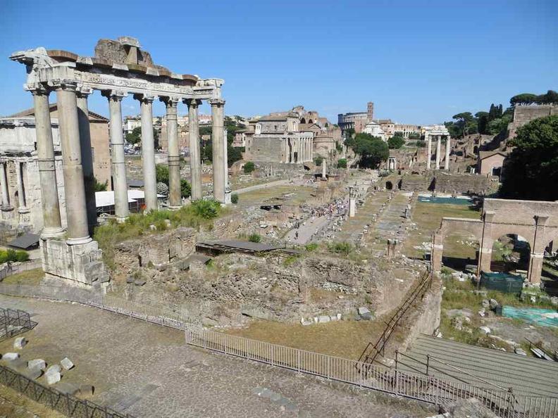 Roman ruins from the rear of the Piazza del Campidoglio Rome Italy