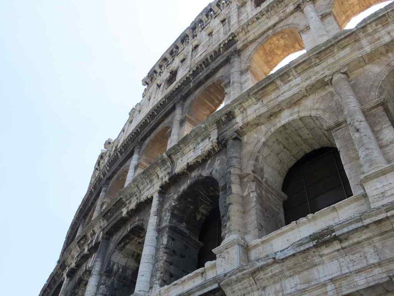 Exterior facade of the Colosseum, Rome Italy