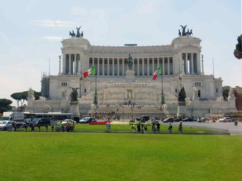 The iconic Piazza Venezia Square Rome Italy