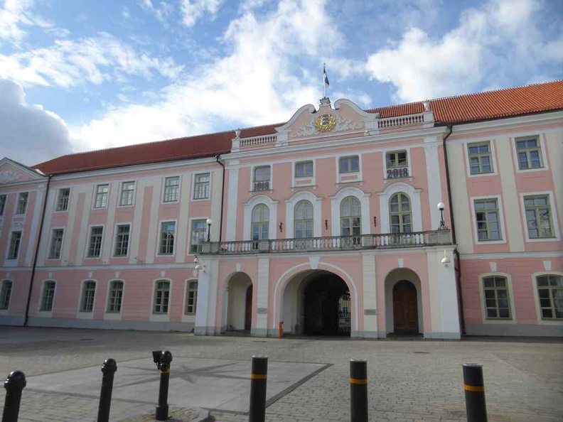 The Parliament Of Estonia on the old town hill