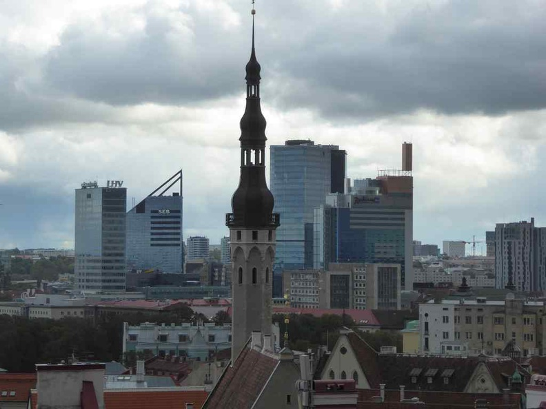 Tallinn Estonia CBD from old town hilltop