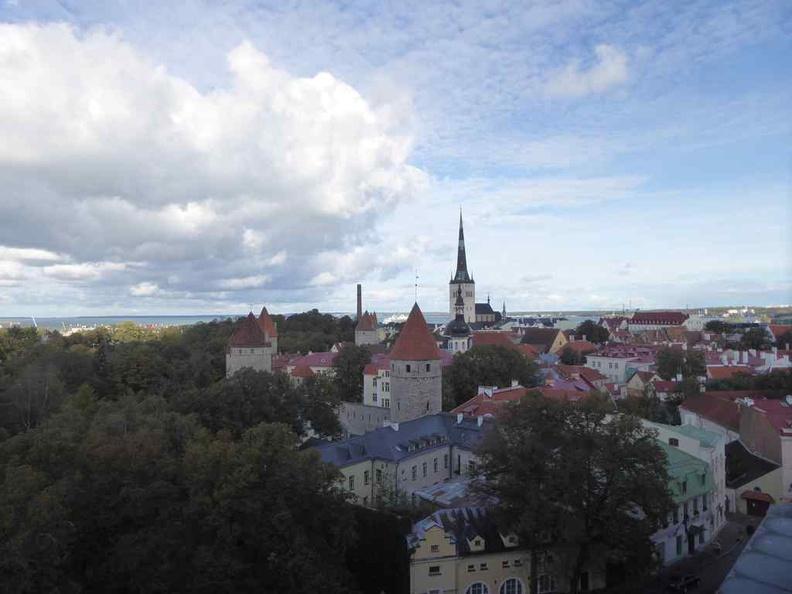 Tallinn old town viewed from hill top