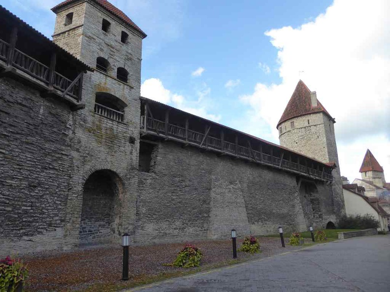 You find these bastions and forts all over the Tallinn Estonia old town. An ole to it's rich history as a fortification