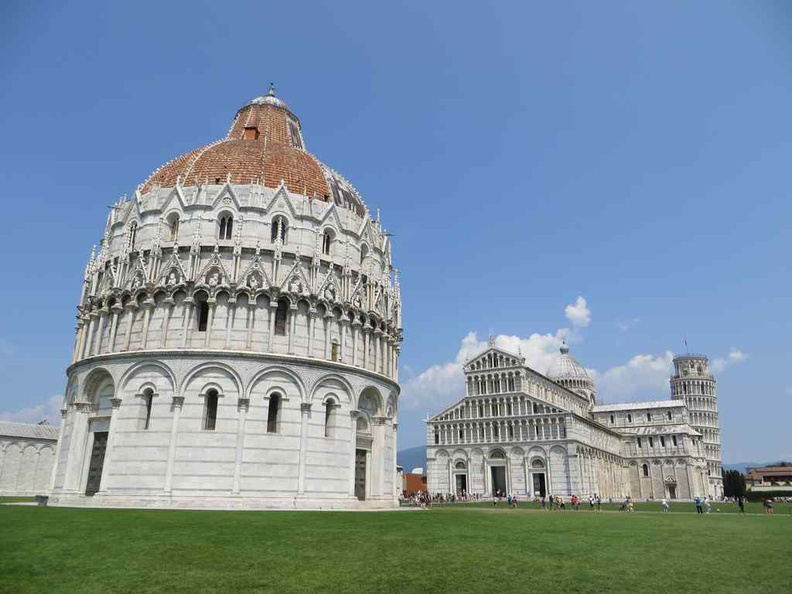 Baptistery of St. John exterior Dome and the largest baptistery in Pisa Italy