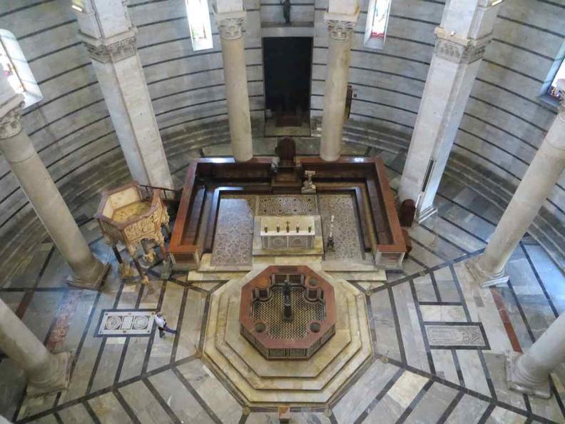 Inside the Baptistery of St. John Pisa Italy
