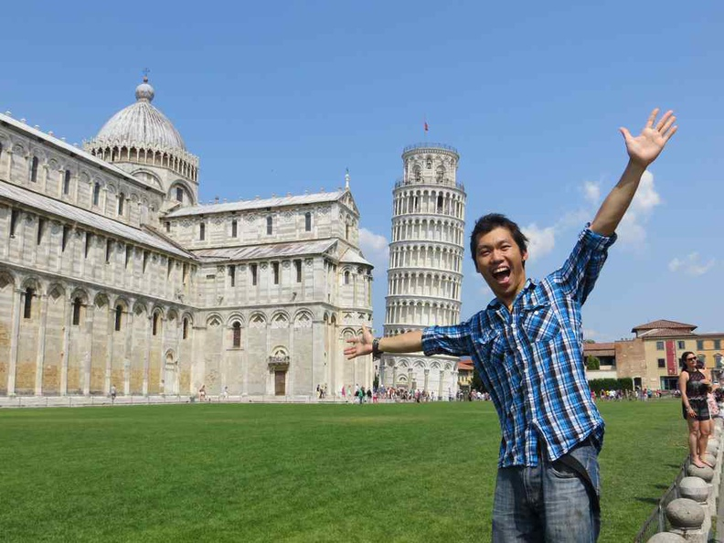 Here at Pisa Italy