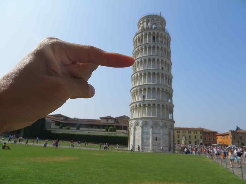 Increasing the tower lean? Pisa Italy