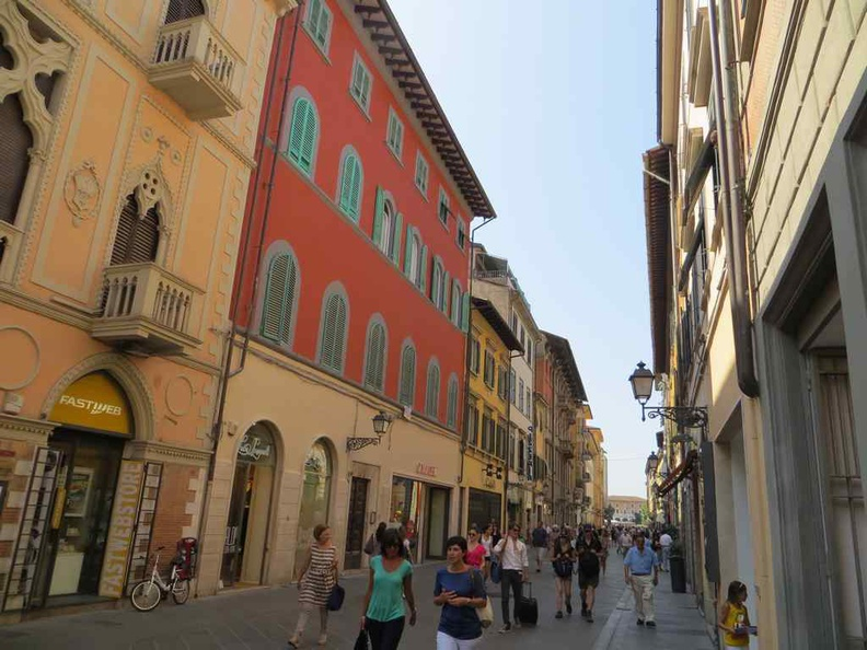 On the streets of Pisa, with many affordable cafes and restaurants