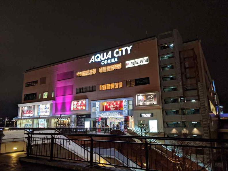 Tokyo Teleport aqua city malls by the Gundam display