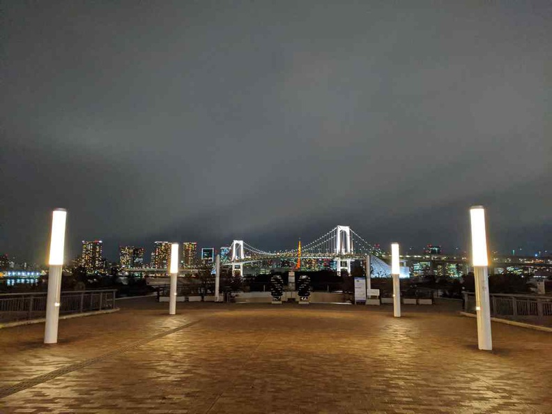 Bay park at Tokyo Teleport with an overlooking viewing deck offering views of the Tokyo bay