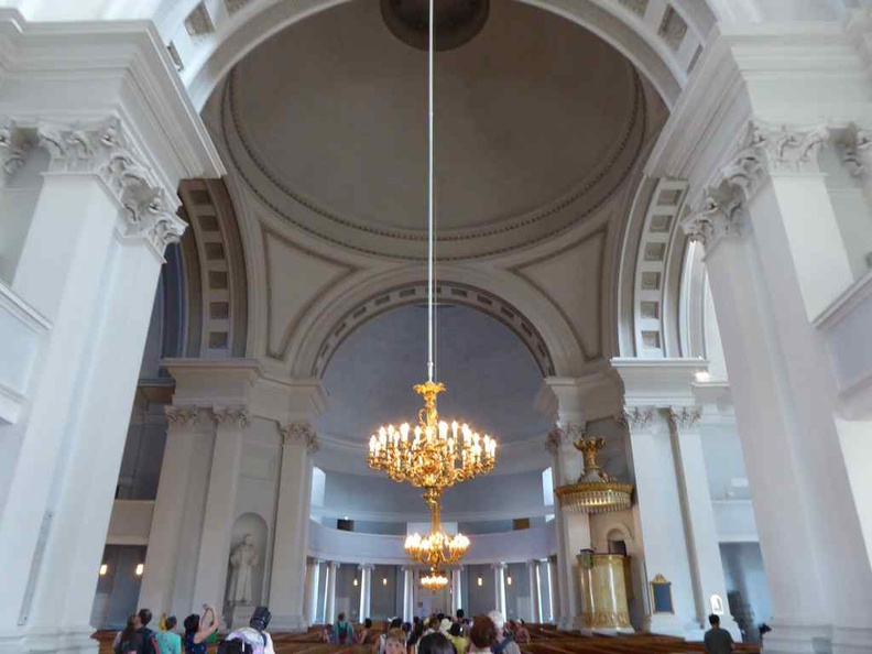 Helsinki Cathedral interior. It has a modern vast and clean interior