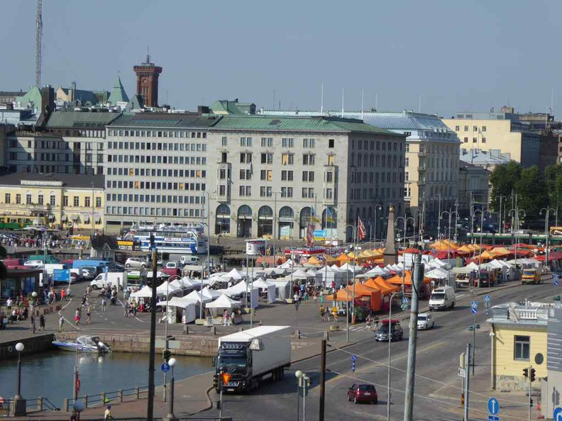 Helsinki City market square by the south habour