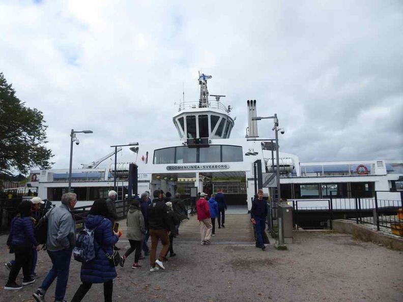 Ferry ride to Suomenlinna IslandFerry ride to Suomenlinna Island connecting to Helsinki south harbor pier