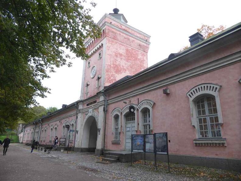 Suomenlinna Helskini visitor center building