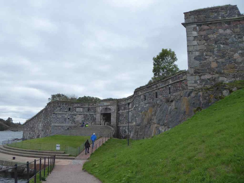 Suomenlinna Island Kings gate, a UNESCO World Heritage site at Helskini, Finland