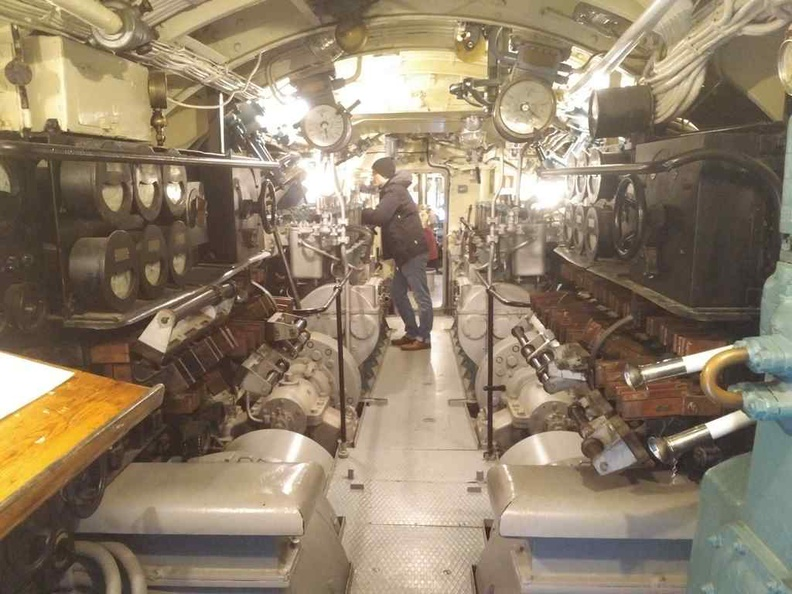 Bow of the Submarine, Torpedo room and crew quarters up front