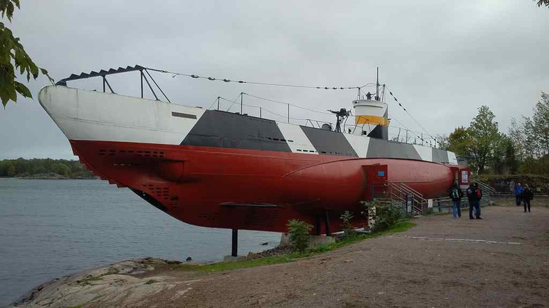 Vesikko Submarine, a Finnish World car 2 submarine museum you can visit on the island