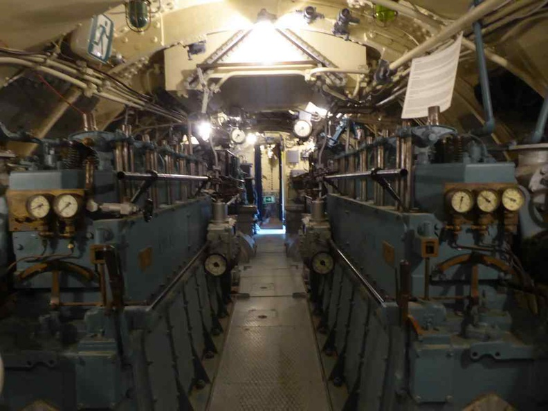 Vesikko Submarine diesel engine room